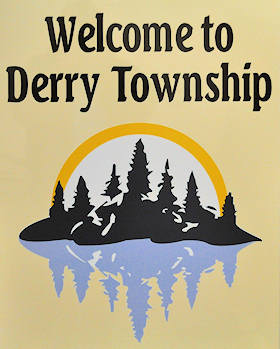 Entering Derry Township sign