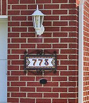 Visible house numbers
